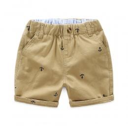 MRJMSL Dzieci Spodnie dla dzieci lato spodnie dla chłopców luźne spodenki size90 ~ 130 kotwica granatowy khaqi