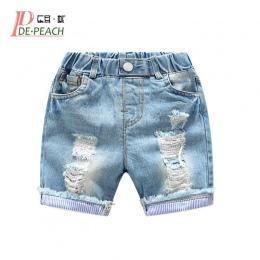 Nowy Dla Dzieci Chłopcy Otwory Jeans Spodenki Spodnie Dla Dzieci Lato Światło niebieskie Spodenki Jeansowe Dla Chłopca W Pasie B