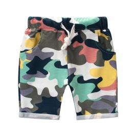 Moda Chłopcy Armia Kamuflaż Spodenki Letnie Spodnie Bawełniane Dla Dzieci Fajne Spodnie Luźne Sportowe Dla Dzieci Camo Szorty Dr
