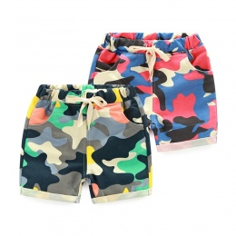 SQBCMW Hot Sprzedaż Dzieci Spodnie dla chłopców spodenki spodnie letnie dziecko mody kamuflaż zielony żółty dzieci dorywczo spod