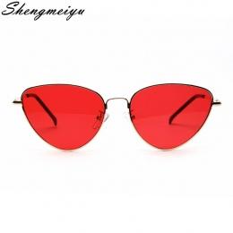 Retro Okulary Cat eye Kobiety Żółty Czerwony Lekkie Okulary Soczewki okulary Mody dla kobiet W Stylu Vintage Metalowe Okulary
