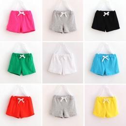 V-TREE moda Lato chłopcy szorty cukierki kolor Spodenki sportowe dla dziewcząt dzieci bawełniane spodenki plażowe dla dzieci spo
