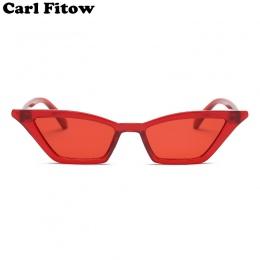 Rocznika Okularów Przeciwsłonecznych Kobiety Okulary Cat Eye Luksusowy Gatunku Projektanta Okulary Retro Małe Czerwone damskie O