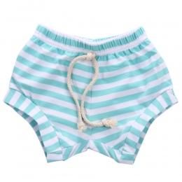 GORĄCA Sprzedaż Newborn Baby bloomers Szary Różowy Niebieski Black White Stripes Dziewczynek Spodenki Letnie Spodnie Spodnie PP