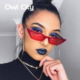 Rocznika Okularów Przeciwsłonecznych Kobiety Okulary Cat Eye Luksusowy Gatunku Projektanta Okulary Retro Małe Czerwone panie Oku