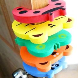 10 sztuk/zestaw Dzieci Bezpieczeństwa Cartoon Drzwi Zacisk Szczypta Ręcznie Bezpieczeństwa Korek Śliczne Zwierząt Dziecko Bezpie