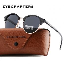 Nowy Spolaryzowane Okulary Okrągłe Okulary Mężczyzna Kobiet Marka Projektant Klub Semi Rimless Okulary Okrągłe Okulary Klasyczne
