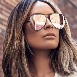 Pistolet Różowe okulary srebrny lustro metal okulary marka projektant pilotażowe okulary kobiety mężczyźni odcienie najwyższej m