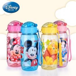 Disney Kubki Dla Dzieci Dziecko karmienie butelką Wody Ze słomy Przenośne Kreskówki Minnie Mickey Piękny Puchar Moja Sportu Bute