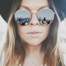CANCHANGE 2018 Retro Okrągłe Okulary Przeciwsłoneczne Damskie Marka Projektant Okulary Dla Kobiet Stop Lustro Okulary kobiet Ocu