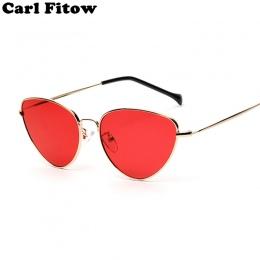 Trendy Przyciemniane Kolor Rocznika Kształcie okulary Famle W Kształcie Kropli Ocean Cat Eye Okulary Przeciwsłoneczne Damskie Ma