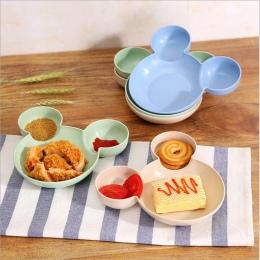 Mickey Bambus Dziecko Stołowe Dzieci Podzielone Miski SPOŻYWCZY ECO Dzieci Dziecko Jedzenia Dania Żywności Obiadowy Talerz Karmi