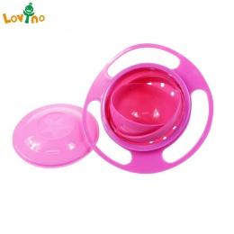 Danie Do Karmienia dzieci Cute Baby Gyro Bowl Uniwersalny 360 Obrót Odporna Na Zalanie Miski Dania Żywności klasy PP Dzieci's Dz