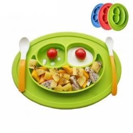 Silikon Karmienie Płyty Żywności Tacy Dania Posiadacza Żywności dla Niemowląt za Toddler Dzieci Dzieci