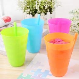 M89ckids dzieci niemowlę dziecko sip cup z wbudowanym słomy kubek drink cup orange domu/niebieski/zielony/hot pink