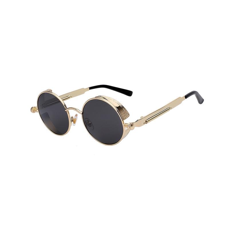 Okulary przeciwsłoneczne okrągłe lustrzanki retro soczewka