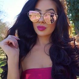 XIESIQING Oceanu Gradientu Obiektywu Cat Eye Okulary marki Okularów Przeciwsłonecznych Kobiet Panie Stopu Pełną Klatkę Okulary ó
