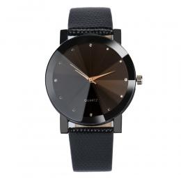 Moda 2018 Watch Mężczyźni Luksusowa Marka Unisex Popularny Kobiet Zegarki Stainless Steel Dial Skórzany pasek Zegarek Kwarcowy Z