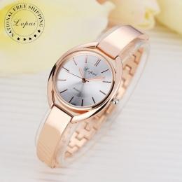 Lvpai Marka Luksusowe Kobiety Bransoletka Zegarki Moda Kobiety Sukienka Zegarek Kwarcowy Panie Sportowe Wzrosła Złoty Zegarek Dr