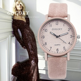 Gogoey Marka Zegarki damskie Moda Leather Wrist Watch Kobiety Zegarki Damskie Oglądać Zegar Mujer Bajan Kol Saati Montre Feminin