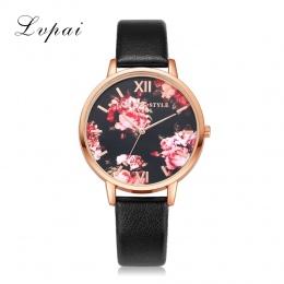 Wysokiej Jakości Skórzany Pasek Moda Złota Róża Kobiety Watch Casual Miłość Serce Quartz Wrist Watch Kobiety Ubierają Panie Luks