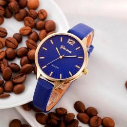 2018 Nowy zegarek Przyjazd kobiety Faux lady dress watch, damska Casual Skórzana quartz-zegarek Analogowy kobiet prezenty Relógi