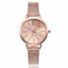 Nowe Mody Kobiety Ze Stali Nierdzewnej Srebrny Złoty Mesh Zegarek Unikalne Proste Zegarki Casual Kwarcowe Zegarki Na Rękę Zegar
