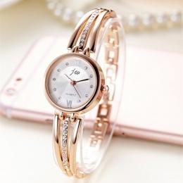 New Fashion Rhinestone Zegarki Kobiety Luksusowa Marka Ze Stali Nierdzewnej Bransoletka zegarki Damskie Zegarki Kwarcowe Sukienk