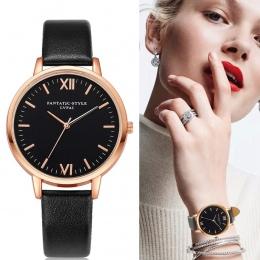2017 Złota Róża Lvpai Marki Leather Watch Luksusowe Klasyczny Wrist Watch Moda Casual Proste Zegarek Kwarcowy Zegar Kobiet Zegar