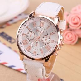 Luksusowa Marka Skórzany Zegarek Kwarcowy Kobiety Mężczyźni Panie Mody Zegarek Na Rękę Zegar Na Rękę relogio feminino masculino