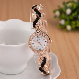 2018 Nowy Marka JW Bransoletka Zegarki Kobiety Luksusowe Kryształ Sukienka Moda damska Casual Quartz Zegarek Na Rękę Zegar reloj