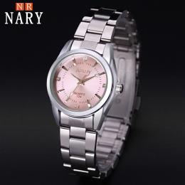 NARY Nowe Mody zegarek damski Rhinestone zegarek kwarcowy relogio feminino kobiety wrist watch dress fashion watch reloj mujer