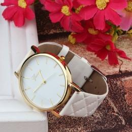Nowy Unisex Casual Genewa Warcaby Faux Leather Kwarcowy Analogowy naviforce Wrist kobiet zegarki Classics kolor Panie sportowe P