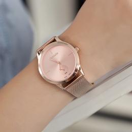 2018 Nowy Przybył Kobiet Oglądać Wysokiej Jakości Panie Kwarcowy Zegarek Luksusowy Ultra Thin Ze Stali Nierdzewnej Zegarki Relog
