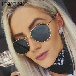 LeonLion 2018 Łamana Okulary Okulary Damskie Lady Luksusowe Retro Metalowe Okulary Zabytkowe Lustro Oculos De Sol Feminino UV400