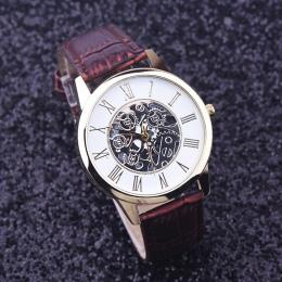 Zegarki Mężczyźni Hombre Rreloj Złoty hollow watch, luksusowe Casual steel Business Naśladować Zegarek Mechaniczny Mężczyzna zeg