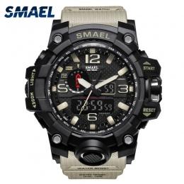 Mężczyźni Wojskowy Zegarek 50 m Wodoodporny Zegarek LED Zegar Kwarcowy Zegarek Sportowy Mężczyzna relogios masculino 1545 Sport