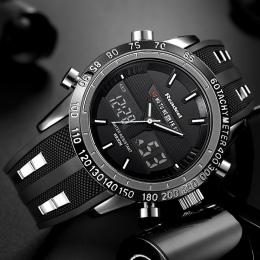Luksusowa Marka Zegarki Mężczyźni Sport Zegarki Wodoodporne LED Cyfrowy Kwarcowy Wojskowi Wrist Watch Zegar Mężczyzna Relogio Ma