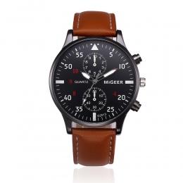 Wojskowe Biznes Zegarki Mężczyźni Marka Sport Luxury Cyfrowy Relogio Masculino Retro Design Skórzany pasek Stopu Quartz Wrist Wa