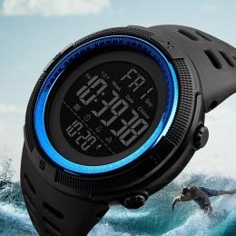 Skmei Luksusowej Marki Sportowe Męskie Zegarki Nurkowania 50 m Cyfrowy LED Military Watch Mężczyźni Moda Casual Elektroniki Na R