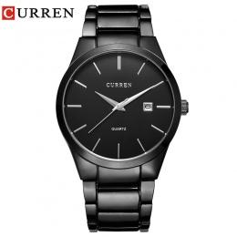 Relogio masculino CURREN Luksusowa Marka sport Analogowe Zegarek Wyświetlacz Data męska Biznes Kwarcowy Zegarek Zegarka Mężczyzn