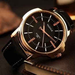 Luksusowe Znane Marki Yazole Mężczyźni Zegarki Biznes Skórzane Zegarka Mężczyzna Zegar Moda Rozrywka Sukienka Zegarek Kwarcowy R