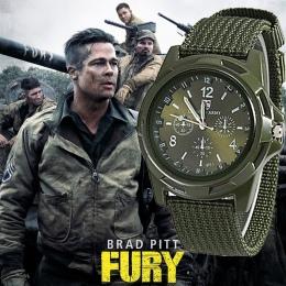 2018 Mężczyźni Nylon zespołu Gemius Army Military watch zegarek Wysokiej Jakości Mechanizm Kwarcowy Men sport watch Casual zegar
