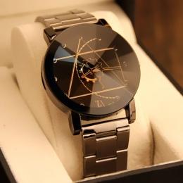 Luksusowa Marka Ze Stali Nierdzewnej Kwarcowy Zegarek Mężczyźni Kobiety Moda Wrist Watch Bransoletka Na Rękę Zegar relogio mascu