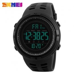 SKMEI Mężczyźni Sport Zegarki Odliczanie Pokój Czas Alarm Zegarek Chrono Cyfrowe Rękę 50 m Wodoodporny Relogio Masculino 1251