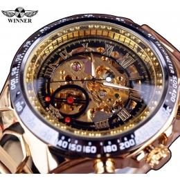 Zwycięzca Nowy Numer Projektu Sportu Bezel Złoty Zegarek Męskie Zegarki Top Marka Luksusowe Montre Homme Zegar Mężczyźni Automat