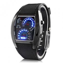 Moda męska Ze Stali Nierdzewnej Luksusowe Sport Analog Quartz Wrist Watch LED Top Marka Luksusowe Zegarki