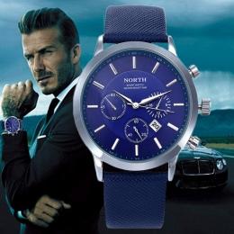 2018 Zegarki PÓŁNOCNEJ Marki Luksusowe Przypadkowi Wojskowe Sportowe Kwarcowy Zegarek Skórzany Pasek Mężczyzna Zegar zegarek rel