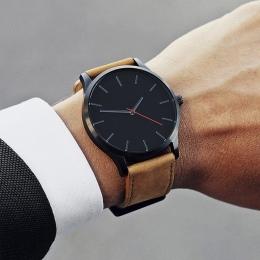 2018 Duże Zegarki Dla Mężczyzn Godzina Zegarki Top Marka Luksusowy Zegarek Kwarcowy Człowiek Skórzany Sport Wrist Watch Zegar re
