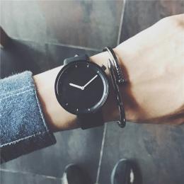 Minimalistyczny stylowe zegarki kwarcowe mężczyźni drop shipping 2018 nowych mody prosty czarny zegar BGG marka męskie zegarki n
